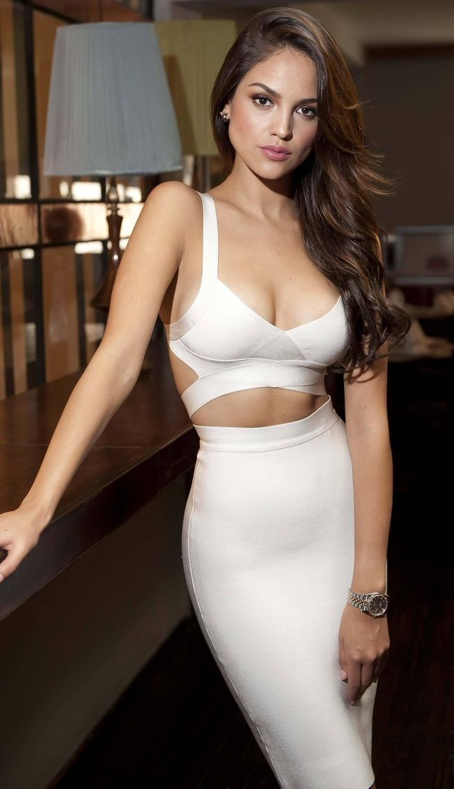 eiza gonzalez white dress