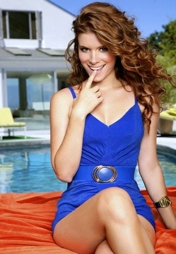 kate mara blue dress