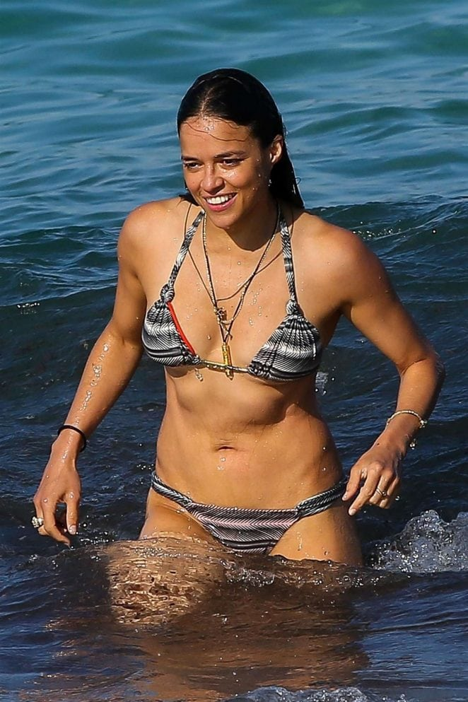 michelle rodriguez enjoying water