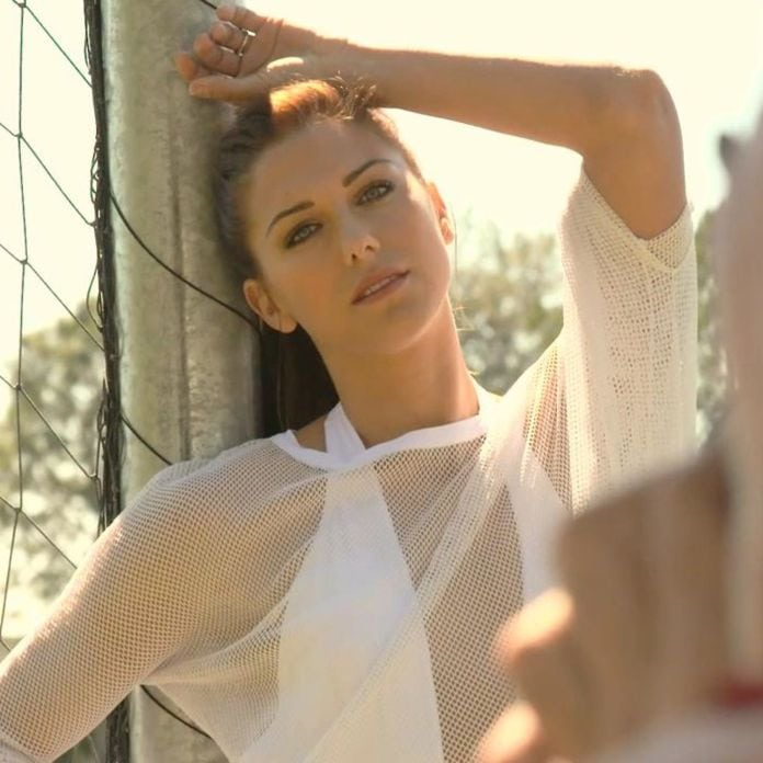 Alex Morgan Hot in White Dress