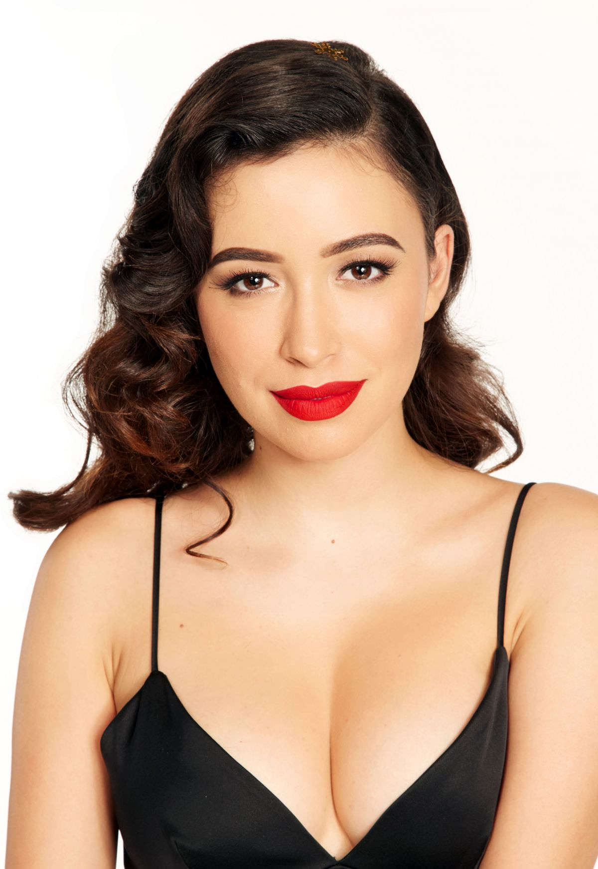 Christian Serratos Red Lips