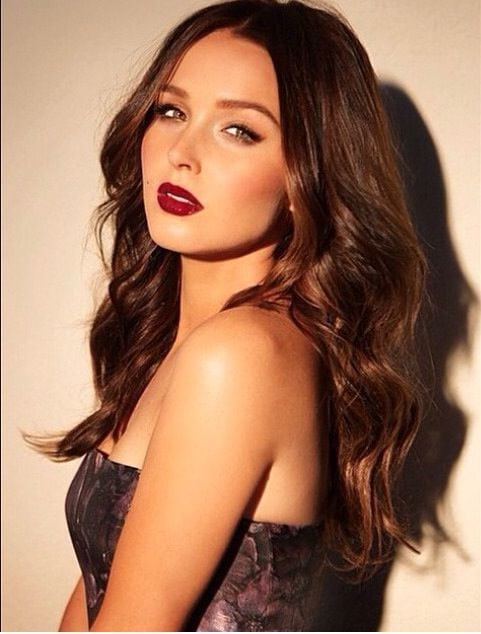 Camilla Luddington Red Lips