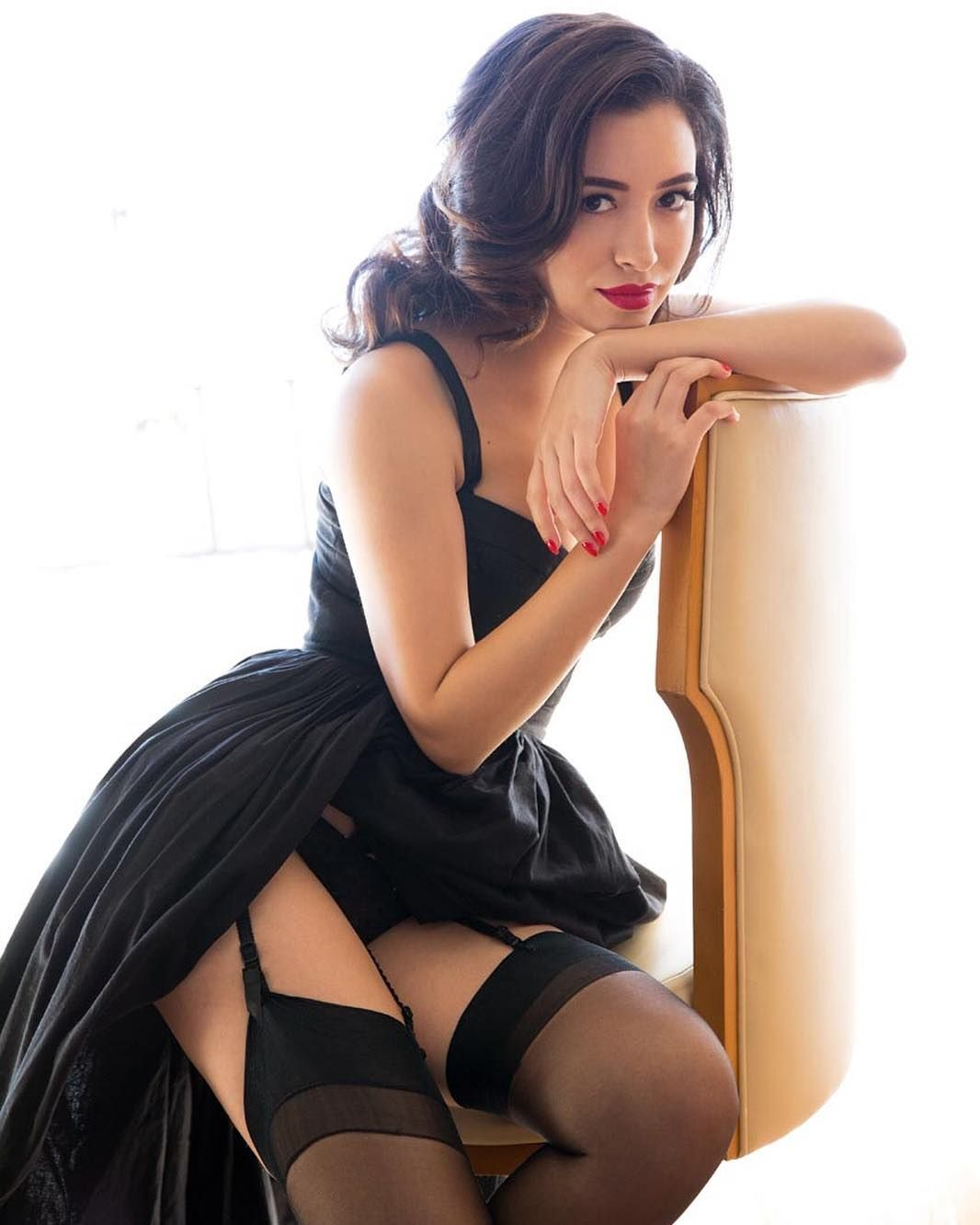 Christian Serratos in Lingerie