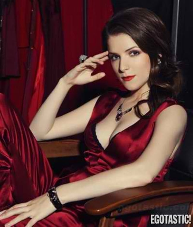 Anna Kendrick on Red Dress