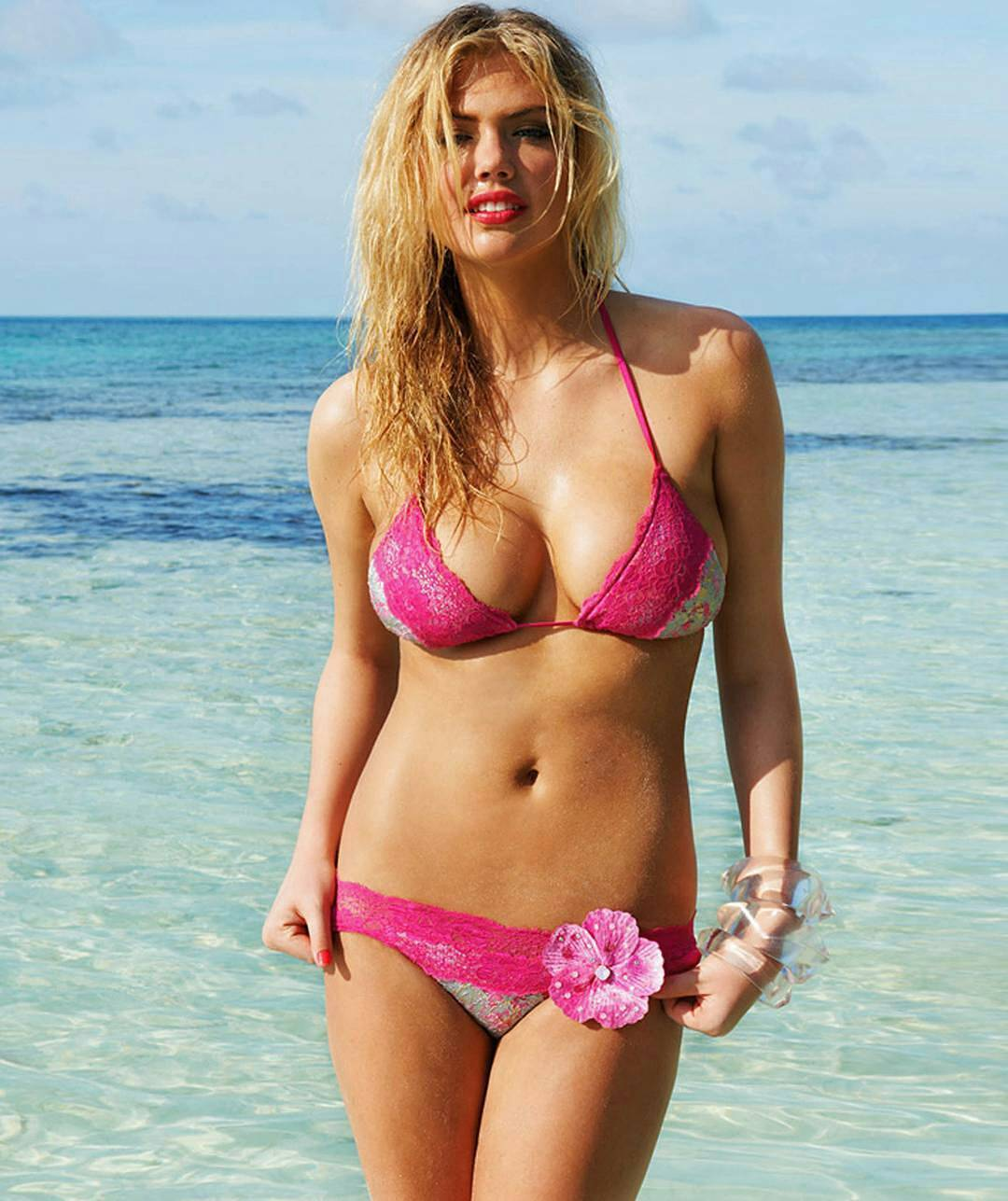 Kate Upton in Pink Bikini