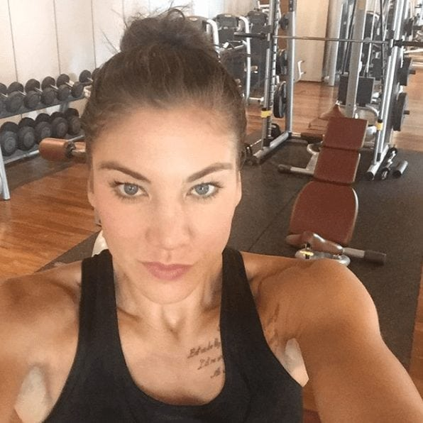 Hope Solo on Selfie