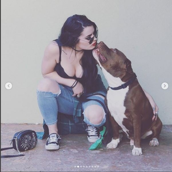 Paige with Dog