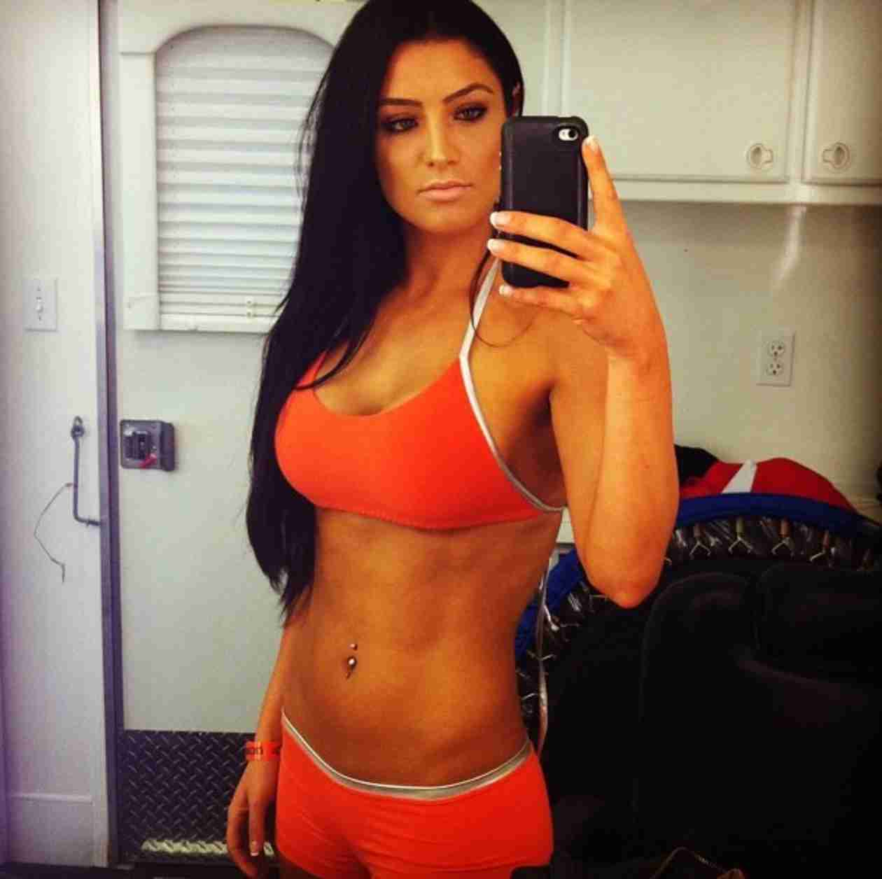 Eva Marie on Selfie