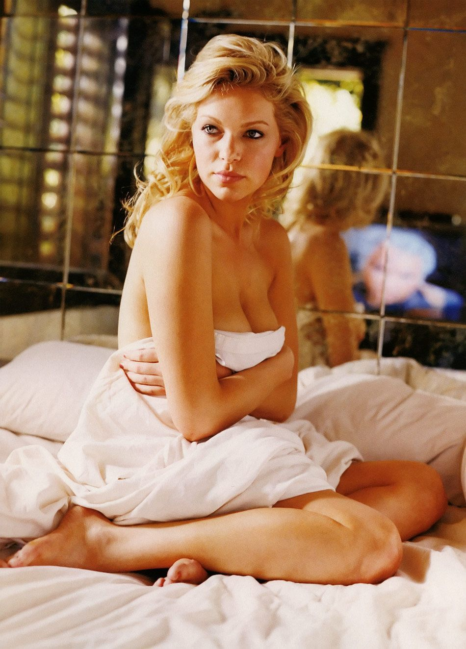 Laura Prepon on Bed