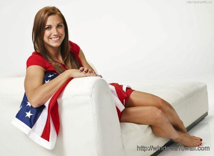 Alex Morgan on Sofa