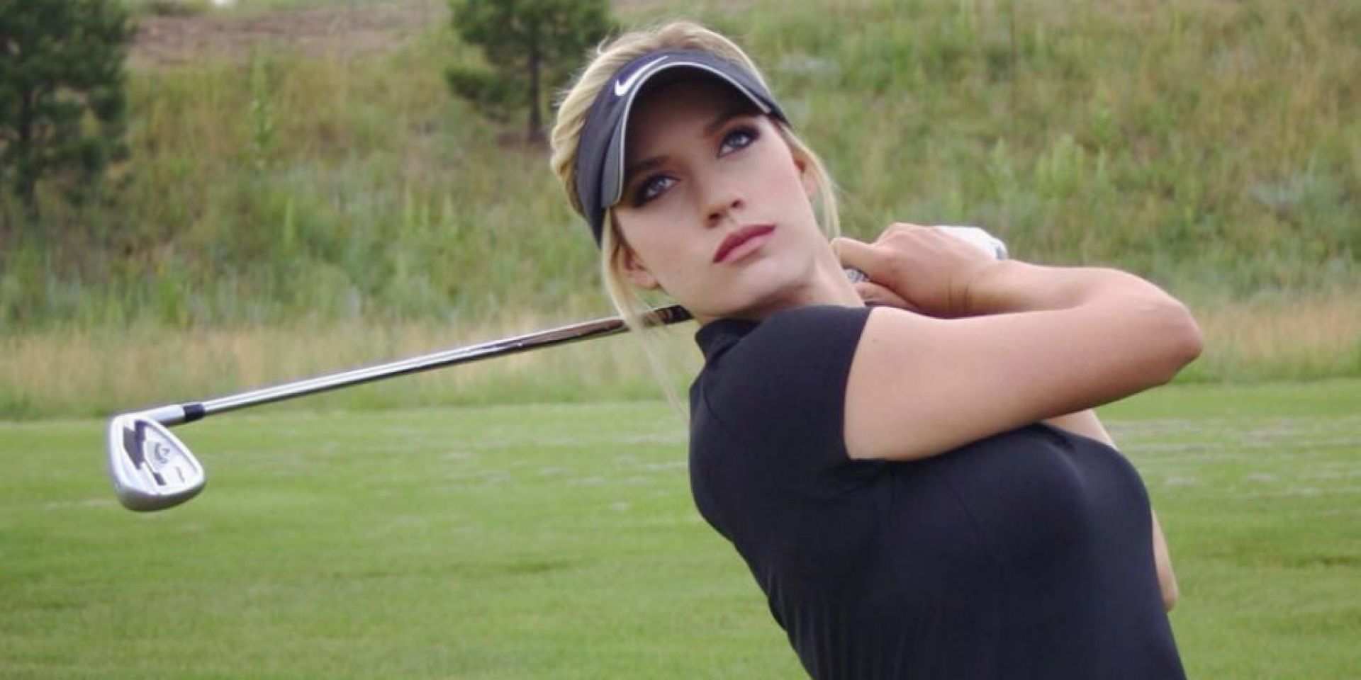 Paige Spiranac playing Golf