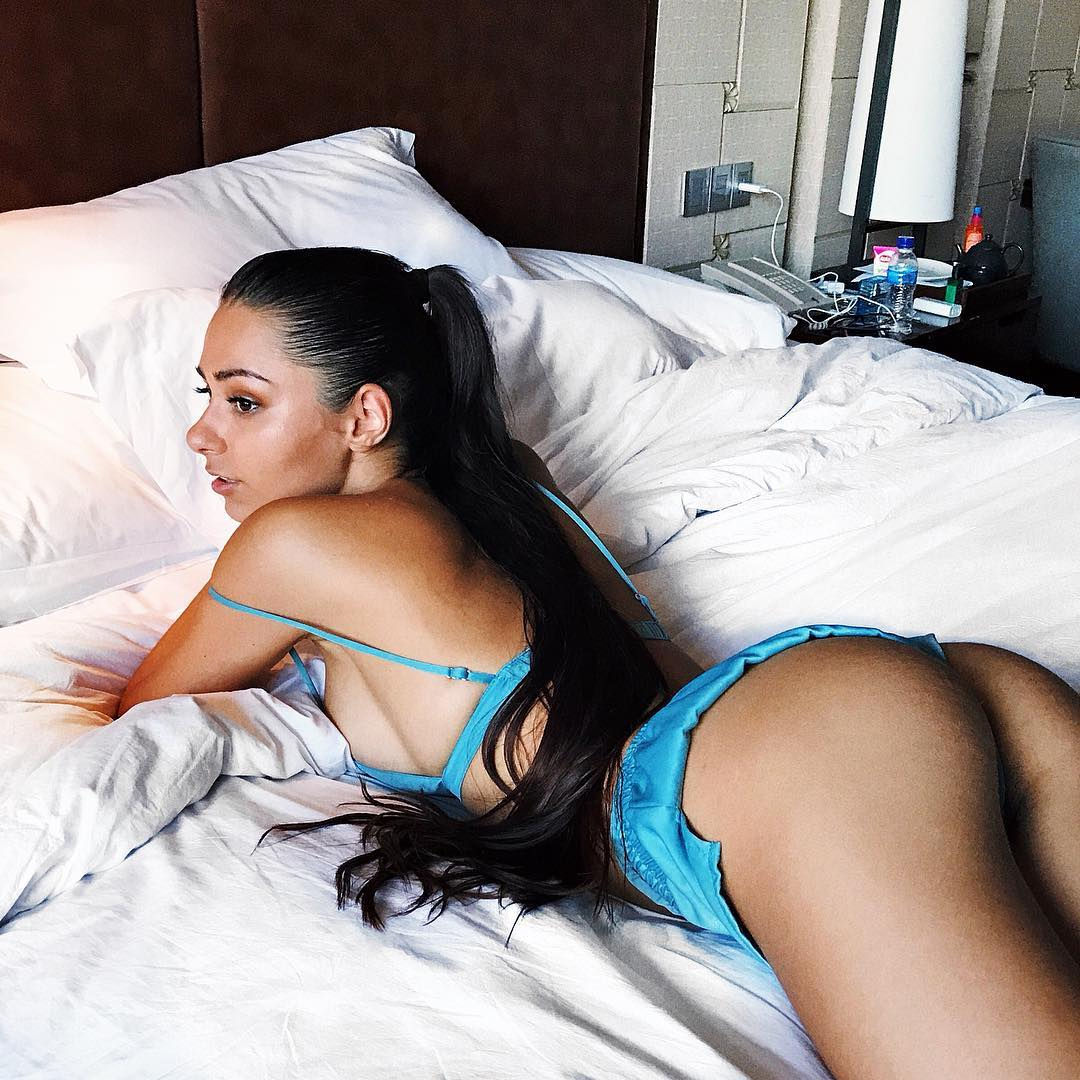 Helga Lovekaty on Bed