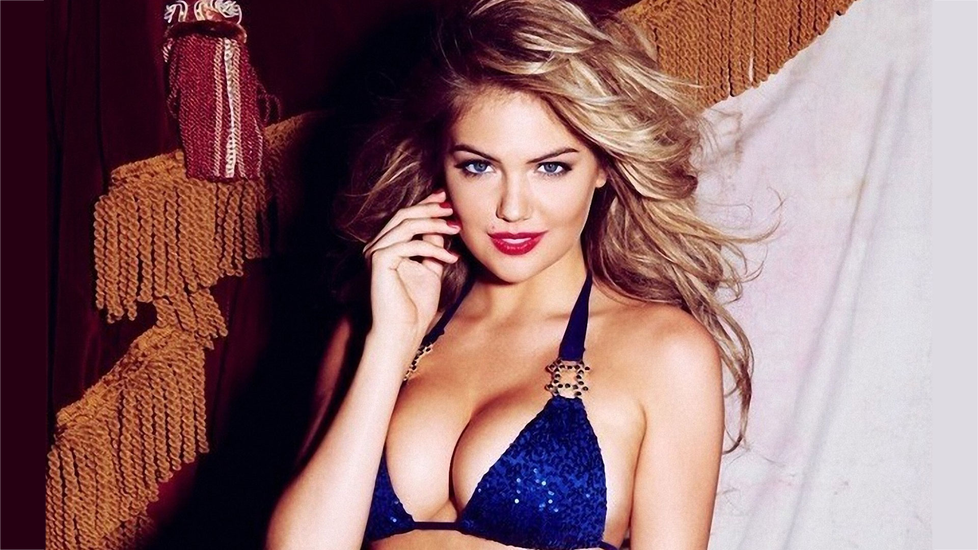 Kate Upton Hot in Blue
