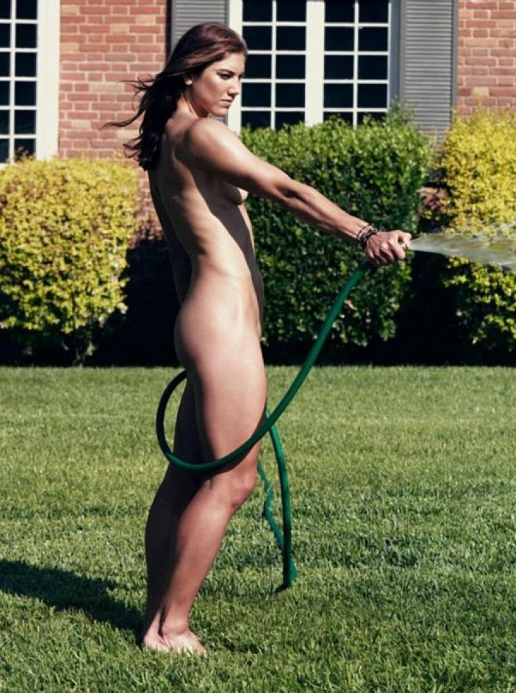 Hope Solo on Garden