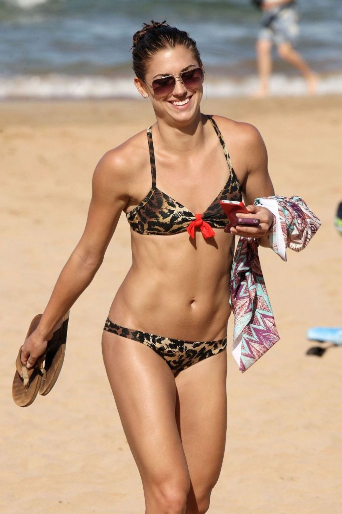 Alex Morgan on Beach