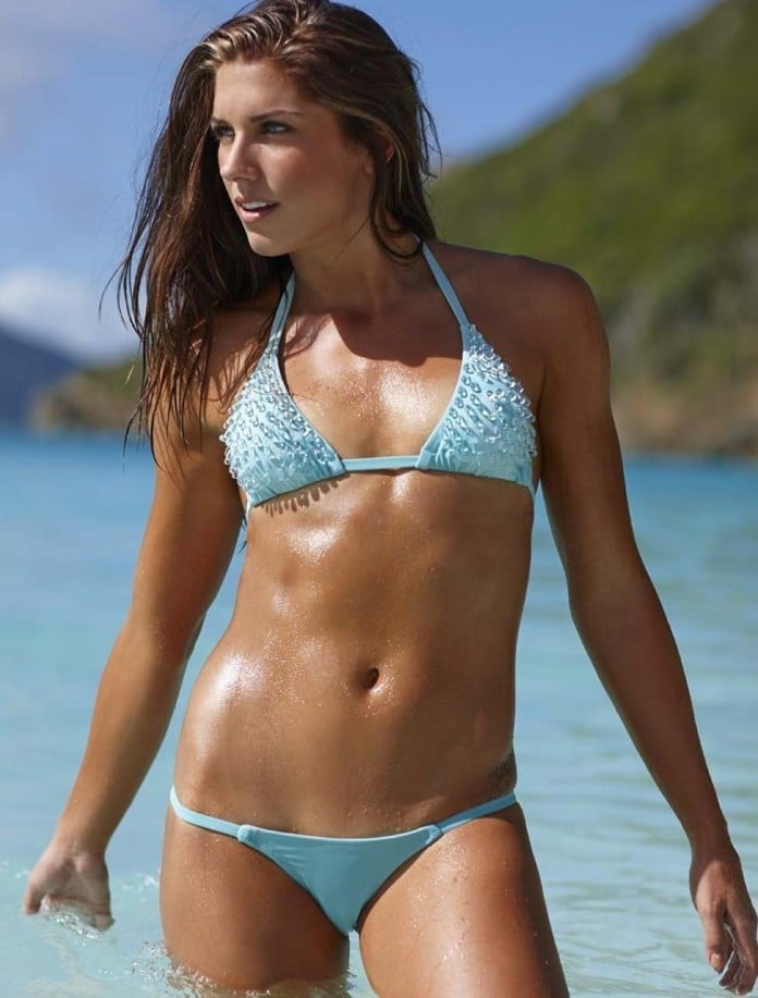 Alex Morgan Hot in Blue Bikini