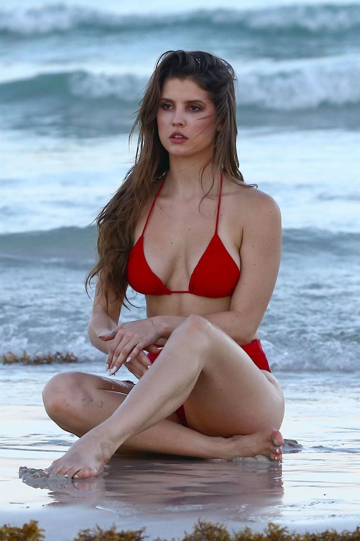 Amanda Cerny in Red Bikini