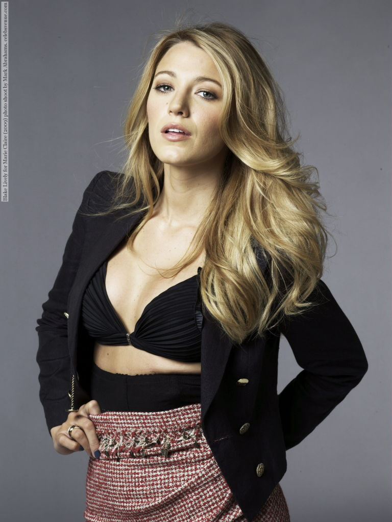 Blake Lively for Marie Claire (2009) photo shoot by Mark Abrahams