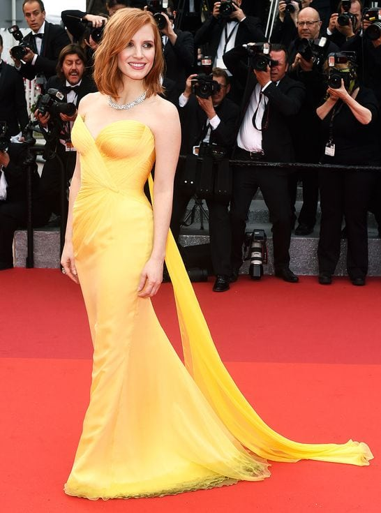 Cannes Red Carpet Jessica Chaistain