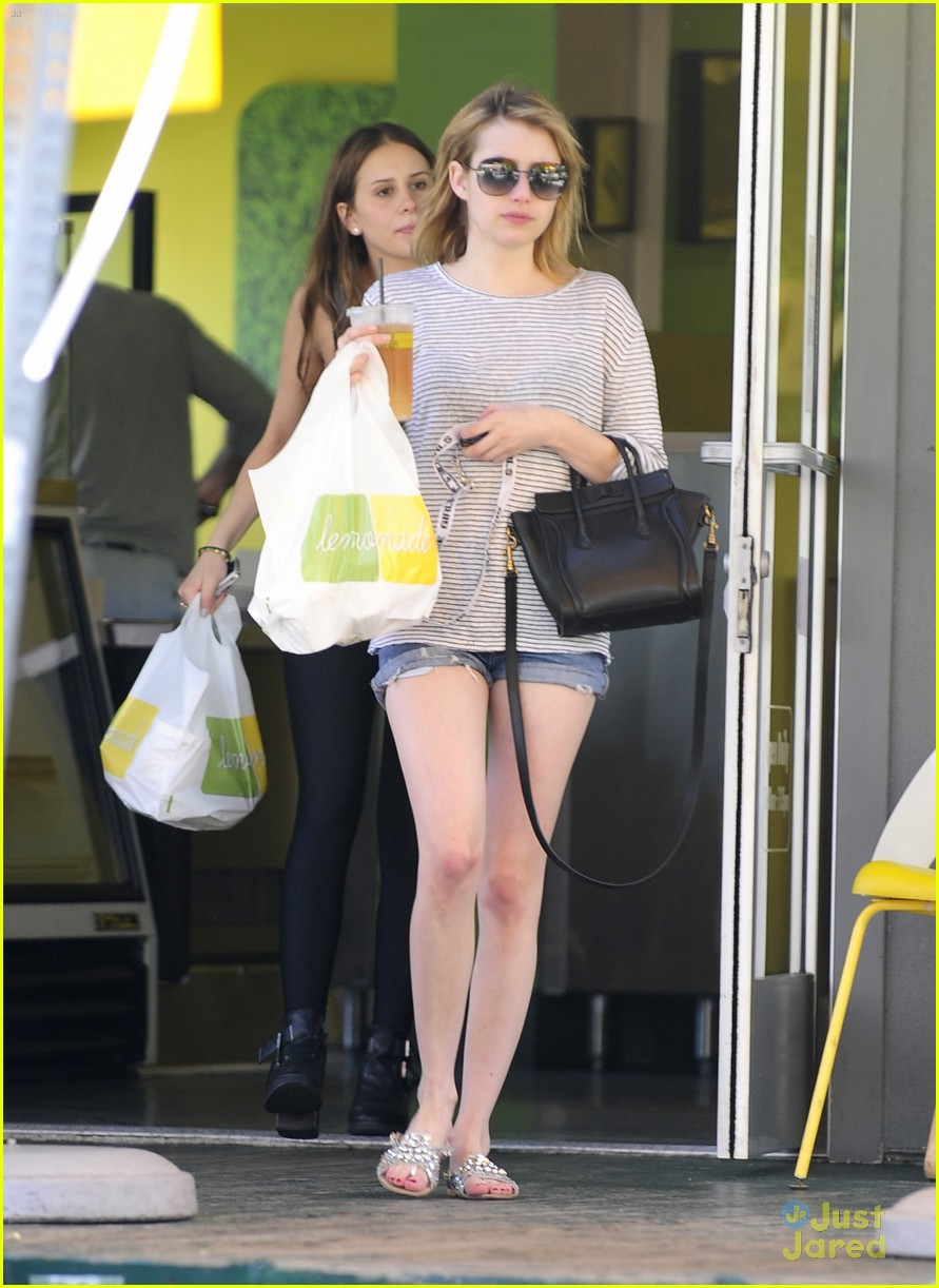 Emma Roberts Gets Some Shopping Done Before Stopping at Lemonade