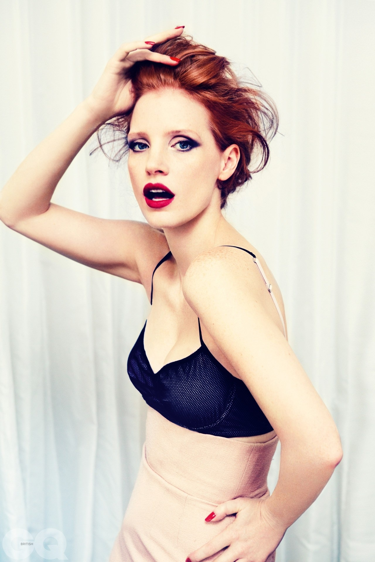 Jessica Chastain in Black Bra