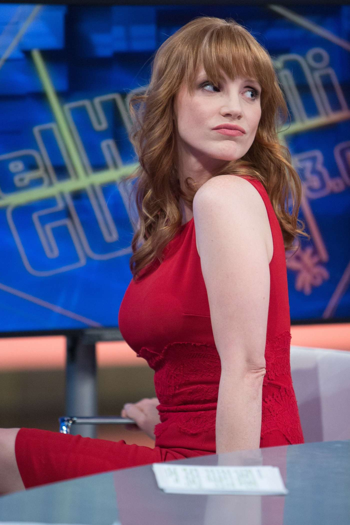 Jessica Chastain in Red Dress