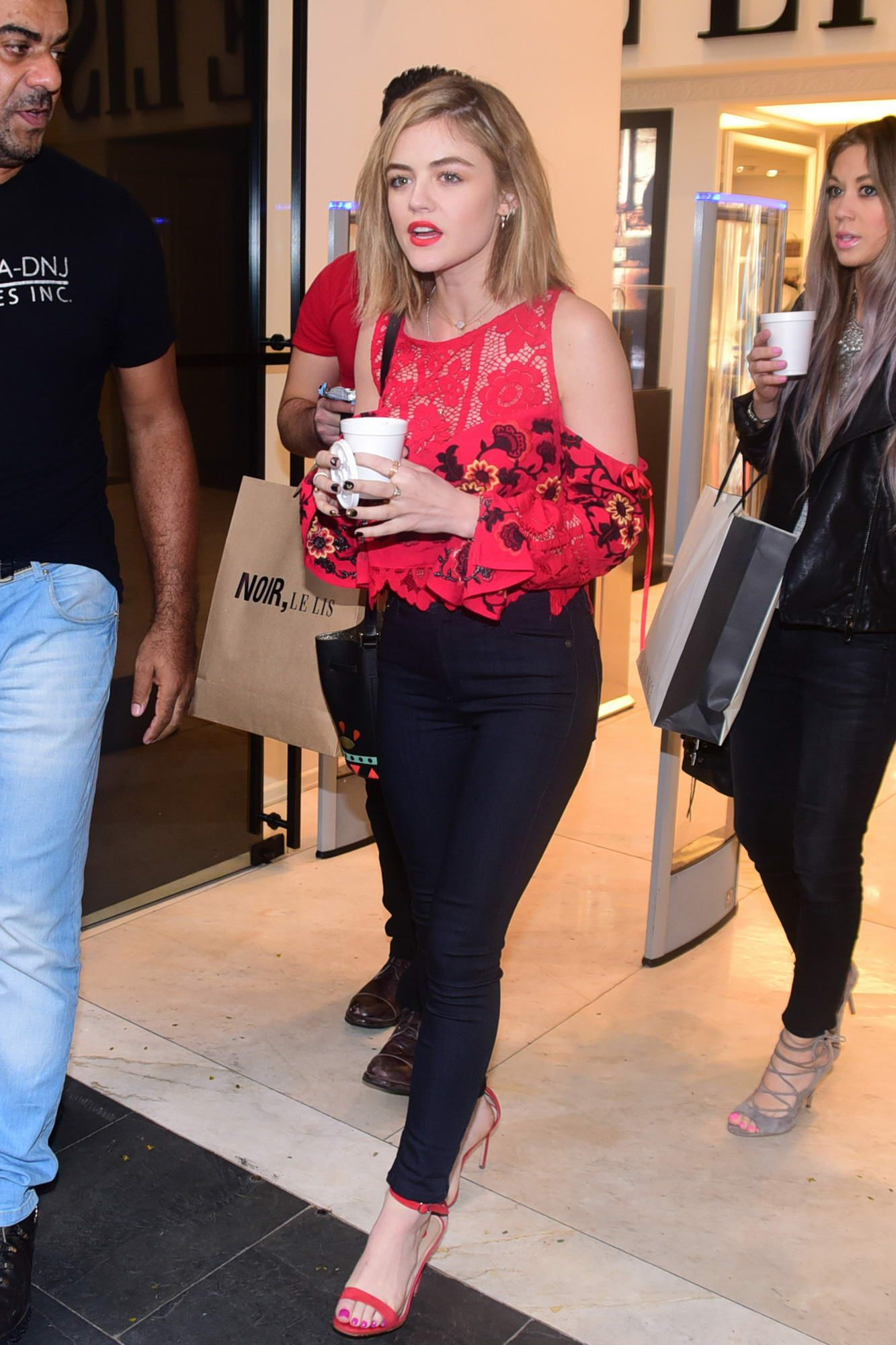 Lucy Hale Shopping