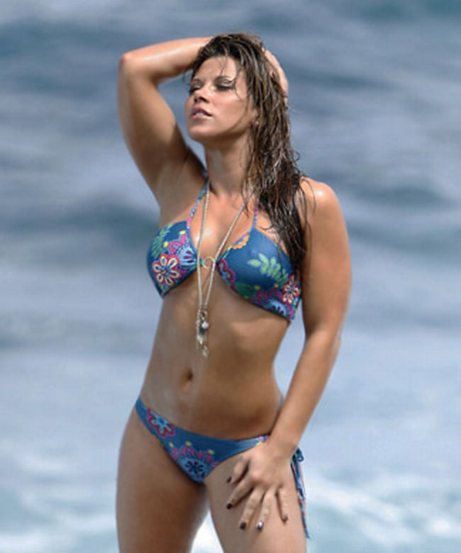Mickie James Beach