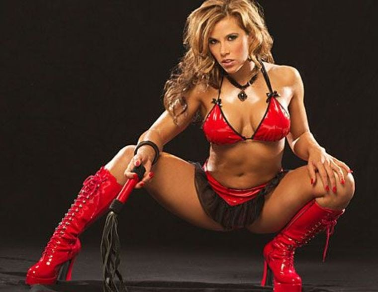 Mickie James Red Bikini