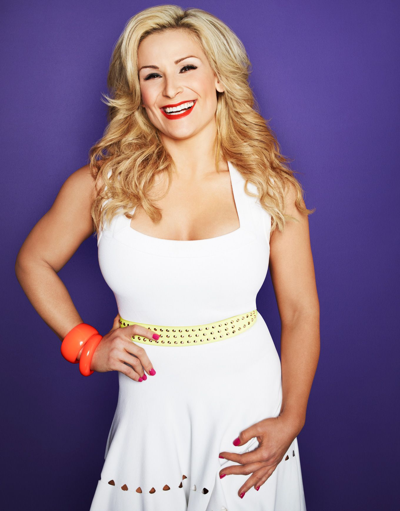 Natalya Neidhart Sexy White Dress