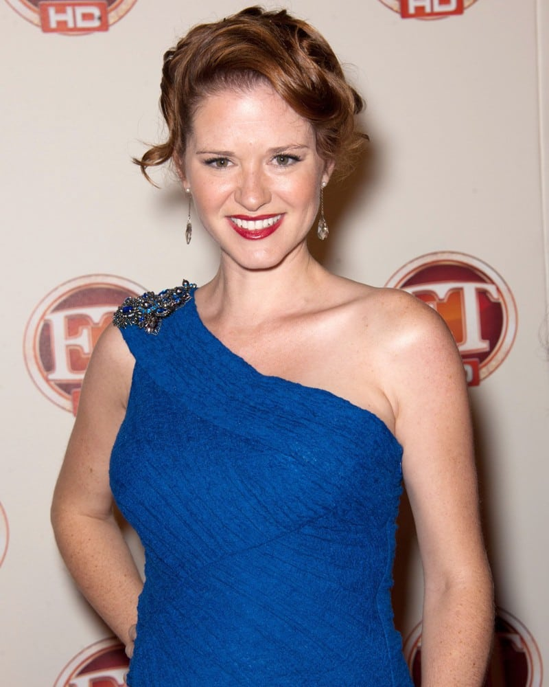 Sarah-Drew on Blue Dress