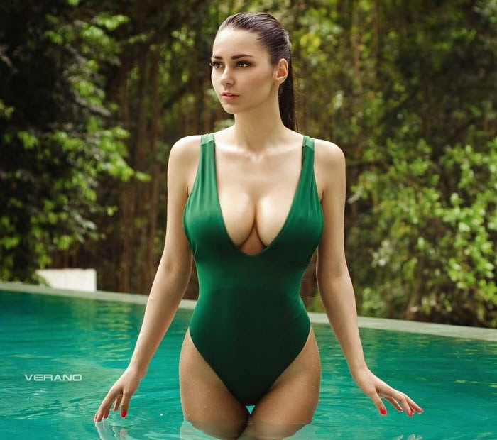 Helga Lovekaty on Swimming Pool