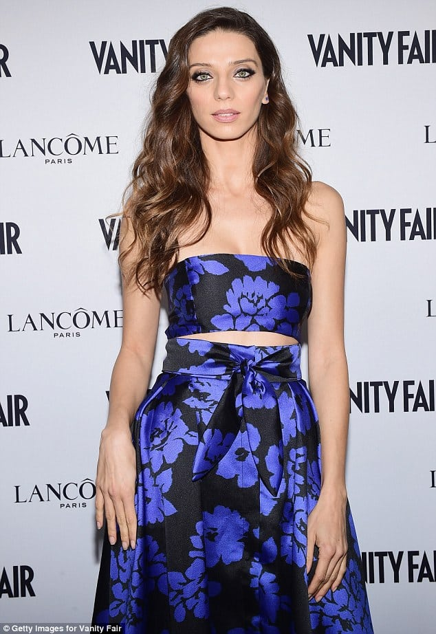 angela sarafyan blue dress