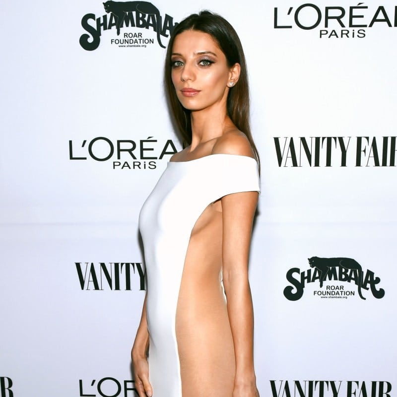 angela sarafyan sexy dress