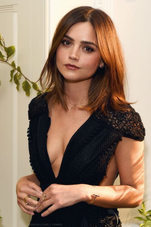 jenna coleman hot cleavage