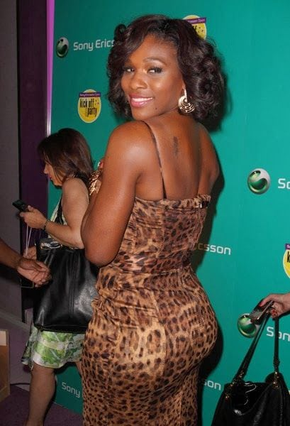 serena williams back pictures
