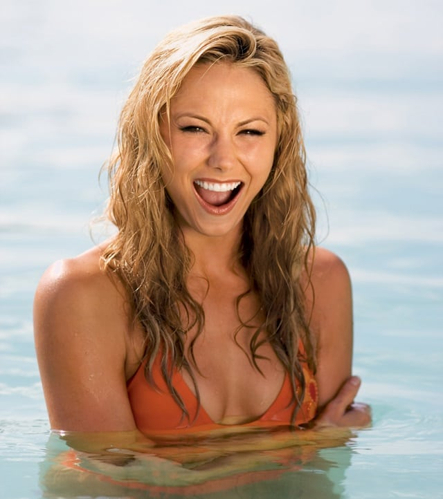 stacy keibler in water