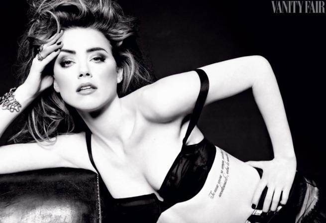 Amber Heard Hot in Black