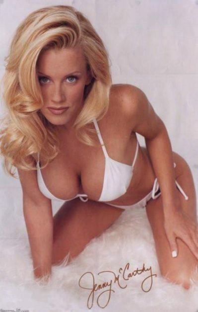 Jenny Mccarthy on Bed
