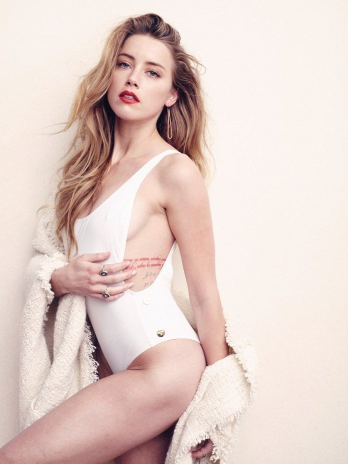 Amber Heard Hot in White