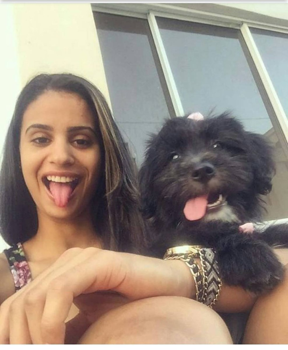Winifer Fernandez with Puppy