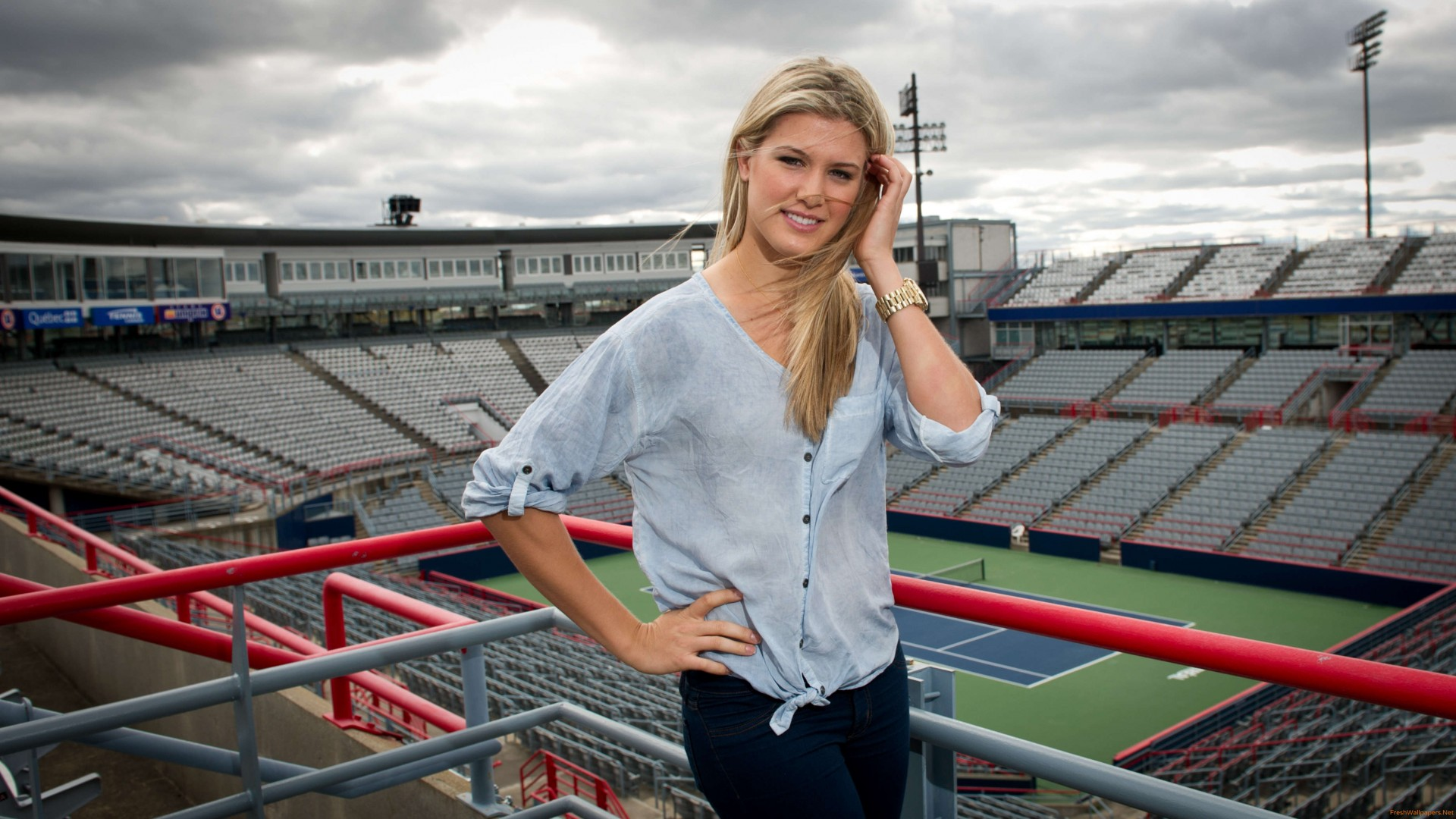 Eugenie Bouchard on Stadium