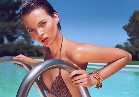 Kate Moss on Swimming
