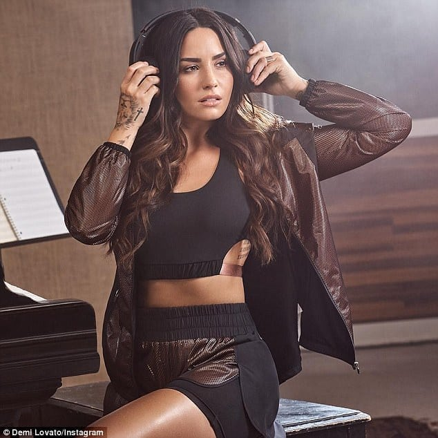 Demi Lovato on Headphone