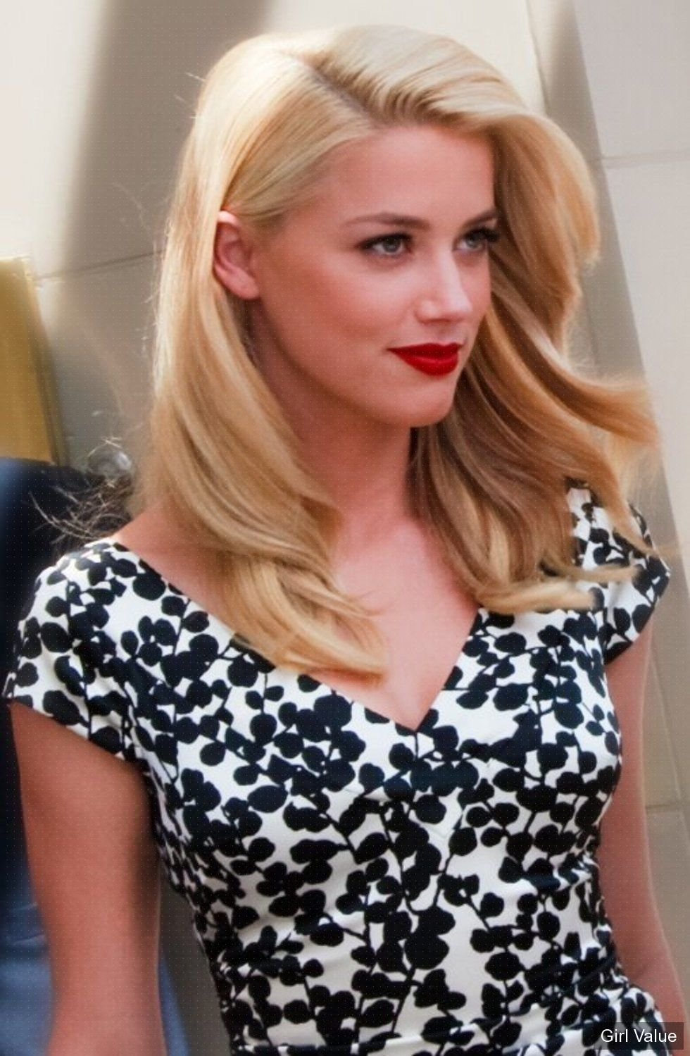Amber Heard Red Lips