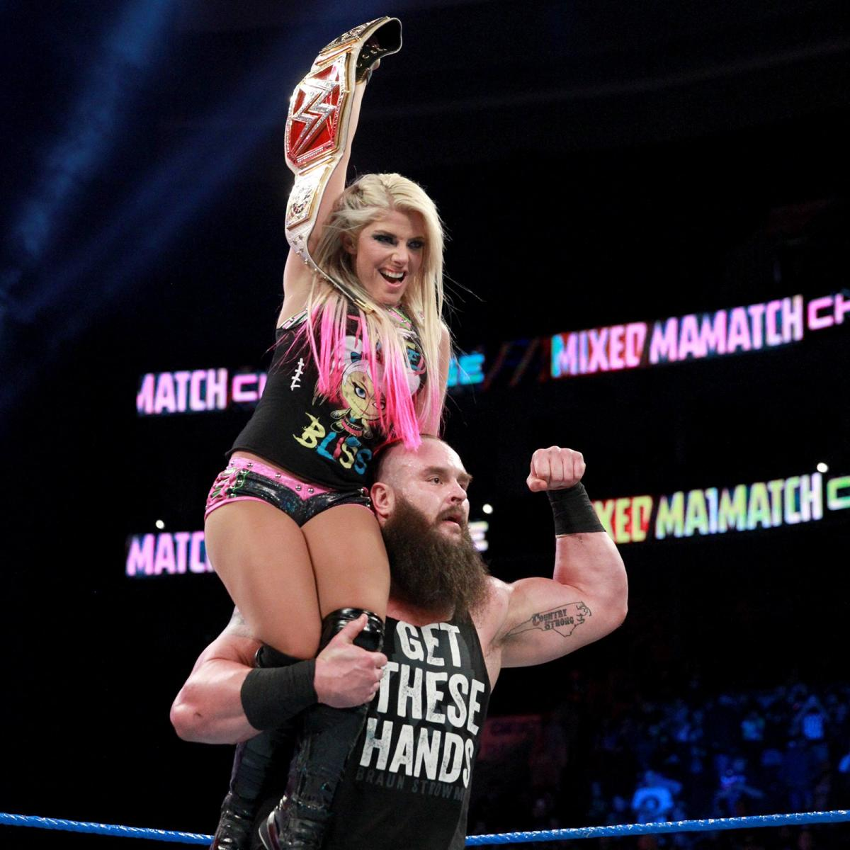 Alexa Bliss With Brawn Strawman