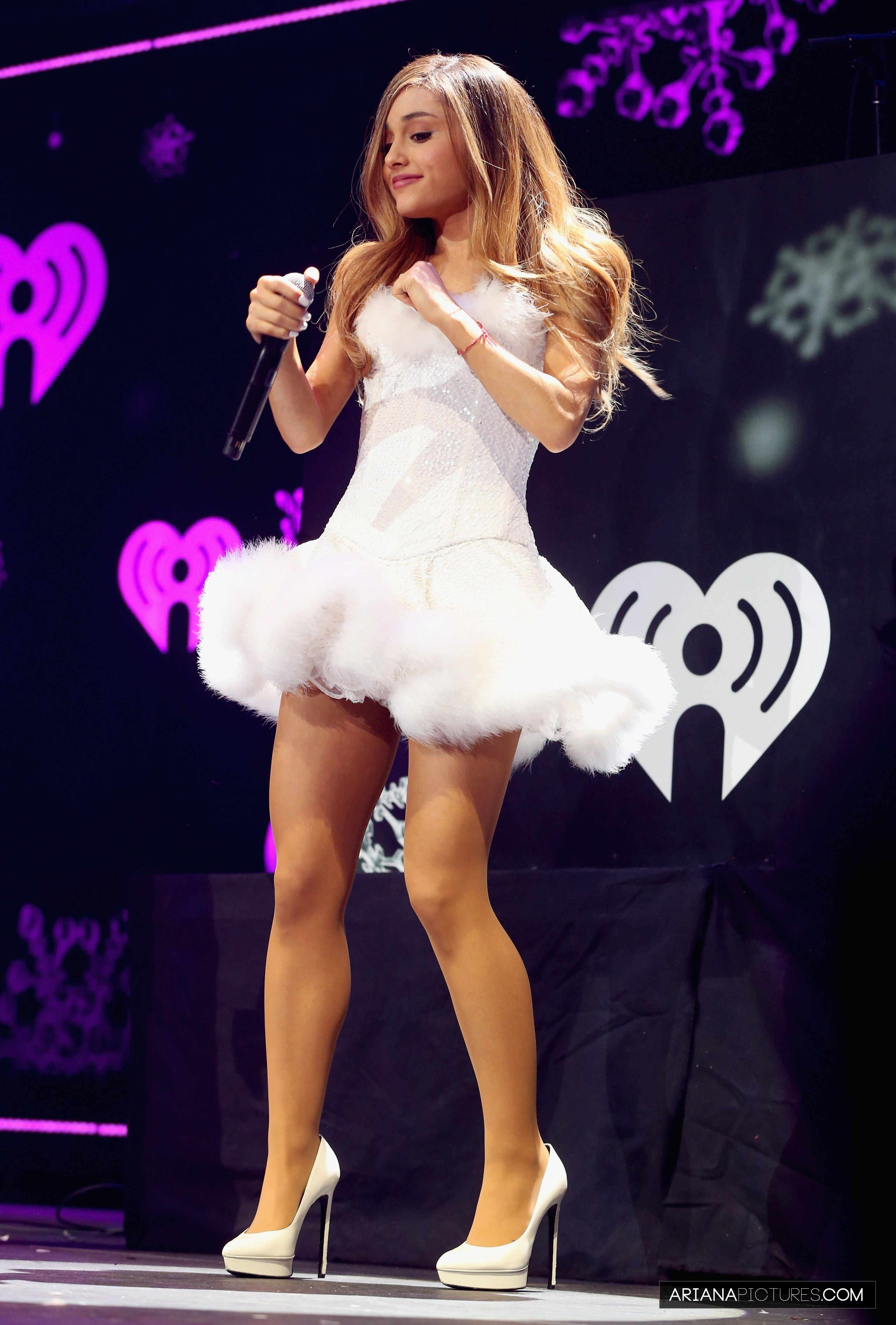 ariana grande during the performance