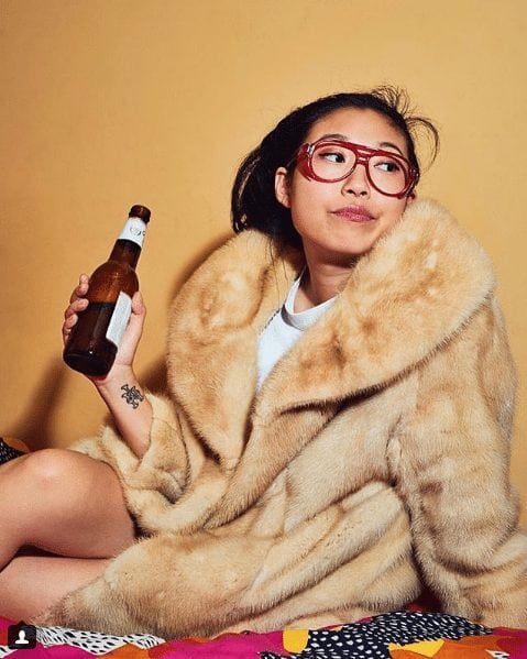 awkwafina in bed