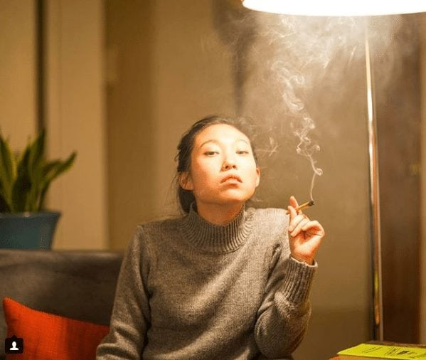 awkwafina smoking
