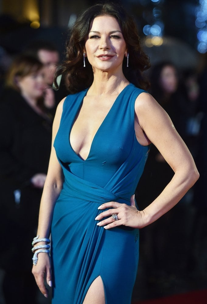 Catherine Zeta Jones Blue Dress
